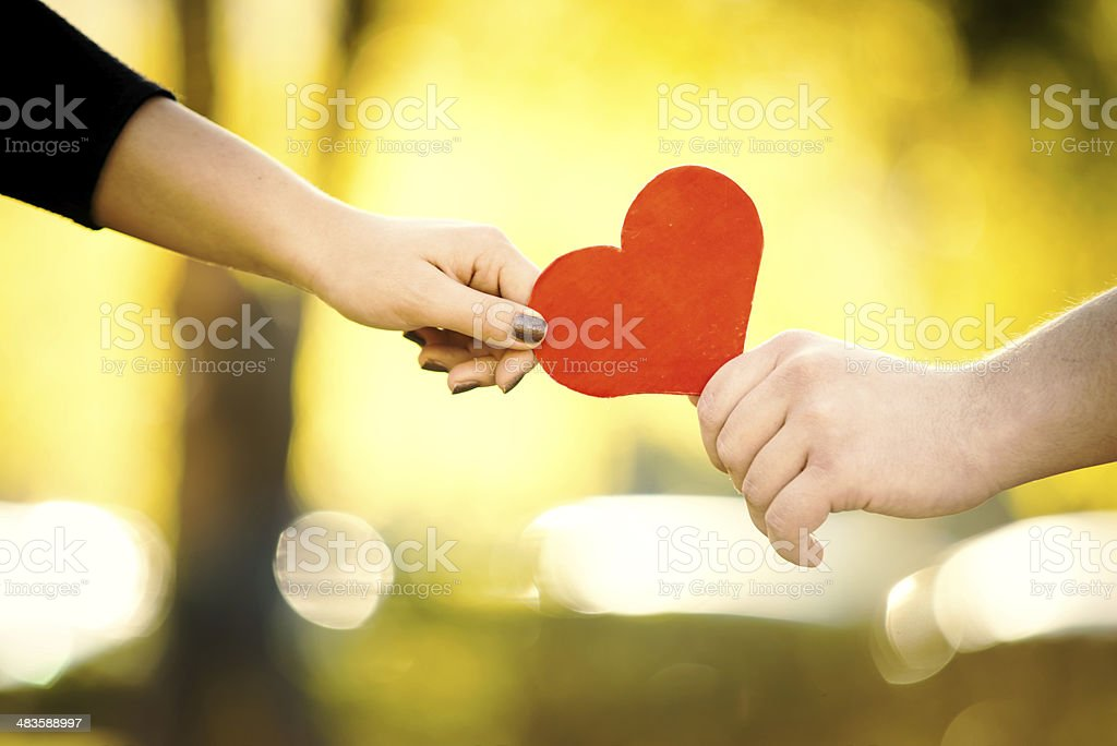 Giving Her Heart Away royalty-free stock photo