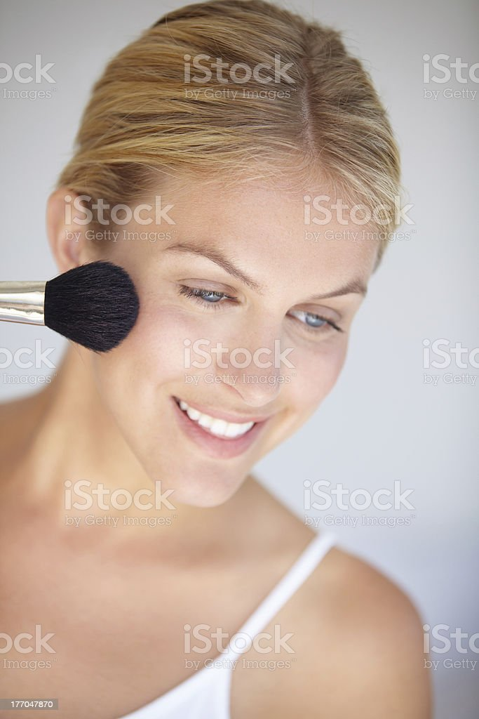 Giving her natural beauty a little boost royalty-free stock photo