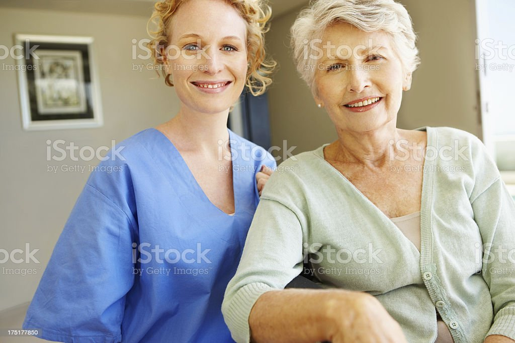 Giving her the care she needs royalty-free stock photo