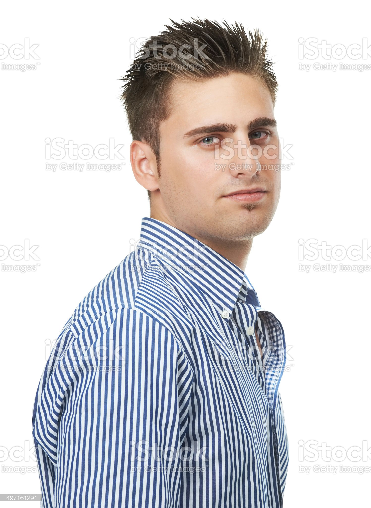 Giving his best pokerface royalty-free stock photo