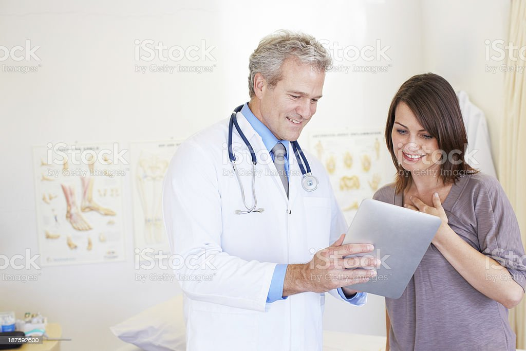 Giving his expert medical opinion royalty-free stock photo