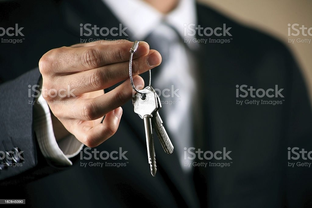 Giving House Keys Series royalty-free stock photo