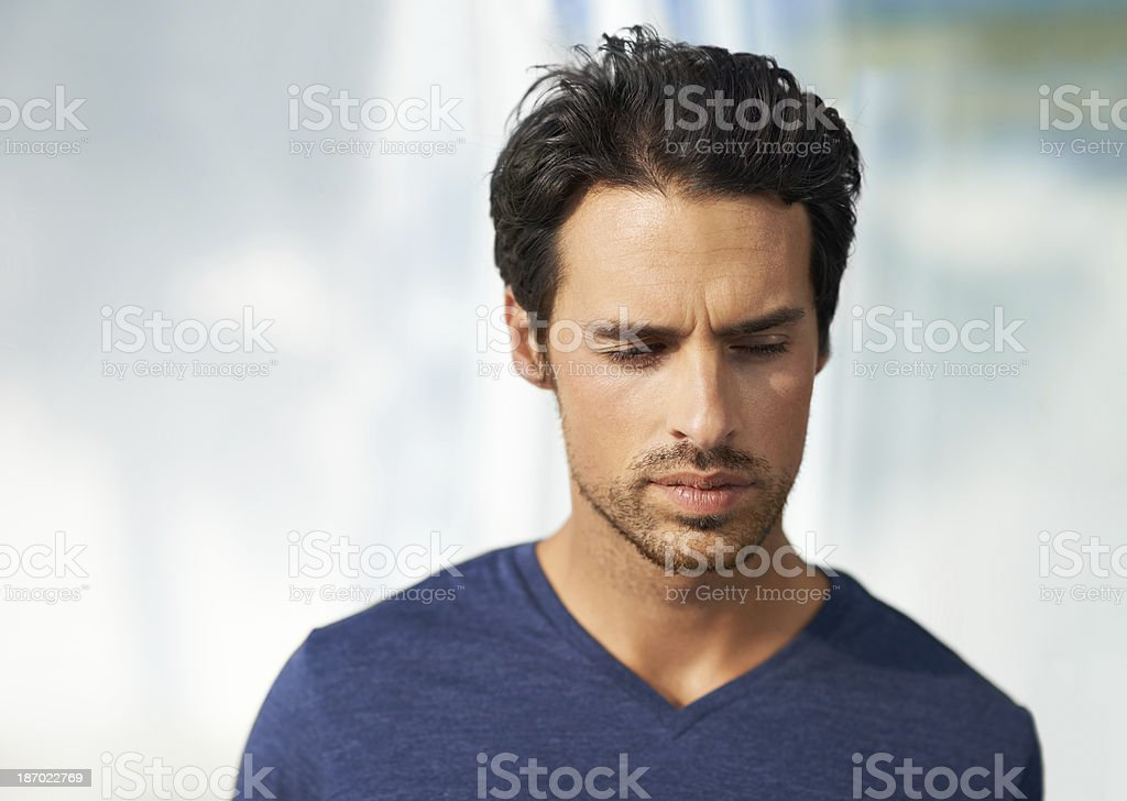 Giving it some thought royalty-free stock photo