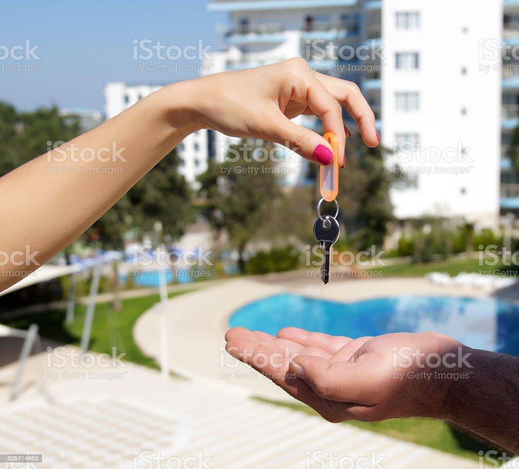 Giving Key stock photo
