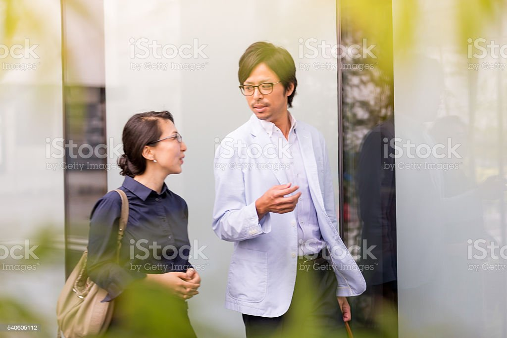 Giving me advice which helps me grow within the organization. stock photo