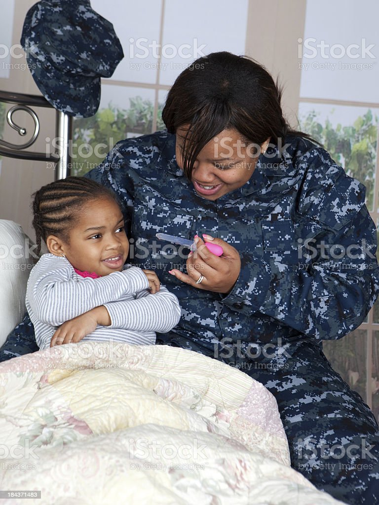 Giving Medicine stock photo