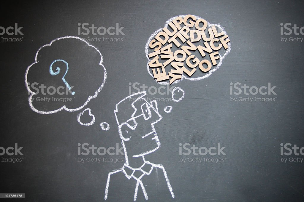 Giving message with bubble speech. stock photo
