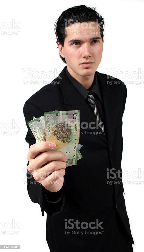 Giving money royalty-free stock photo