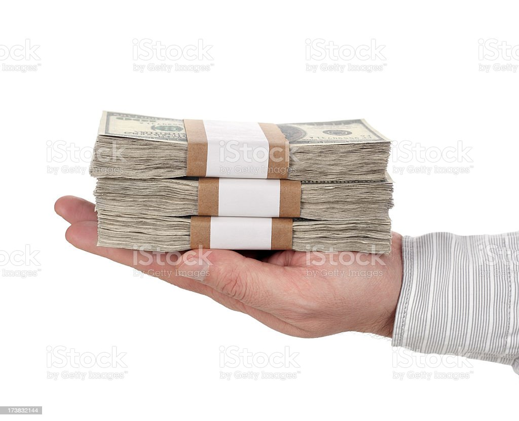 Giving Money royalty-free stock photo