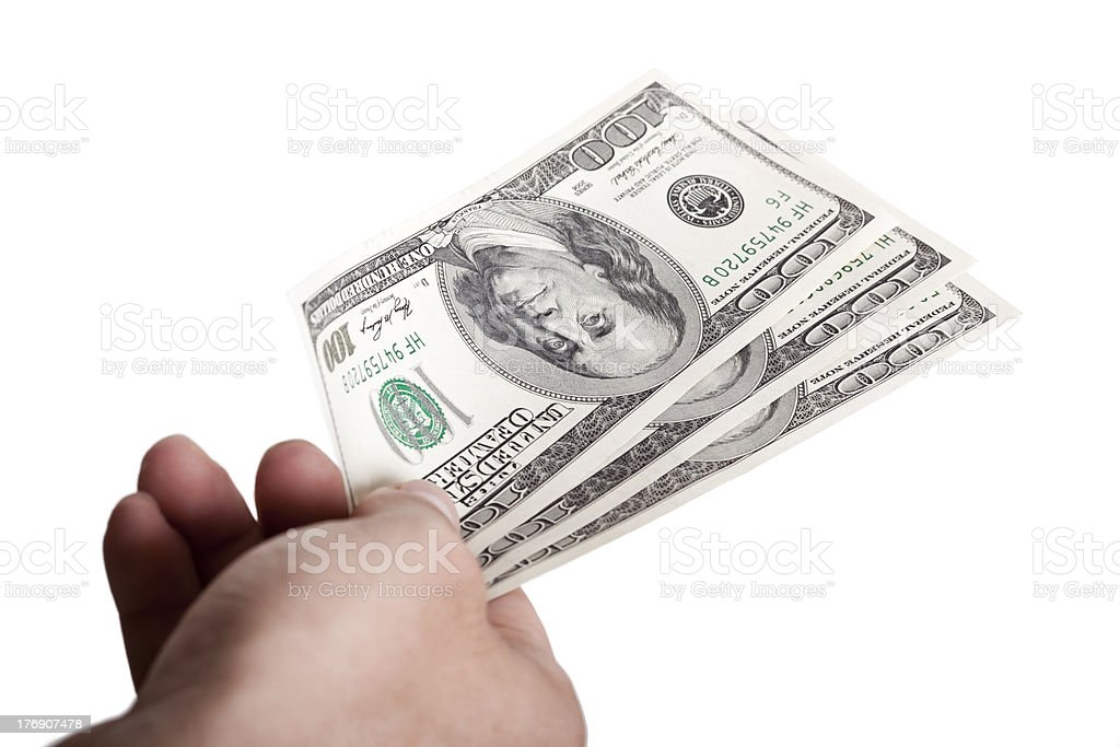 Giving Out Cash royalty-free stock photo