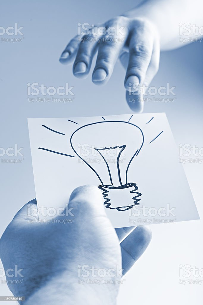 giving solution royalty-free stock photo