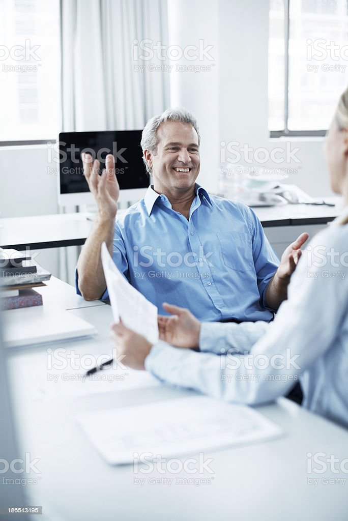 Giving some sage business advice stock photo