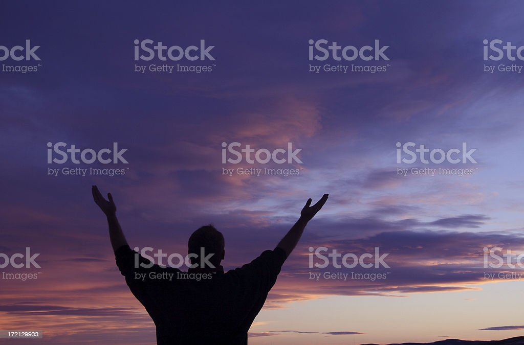 Giving Thanks royalty-free stock photo