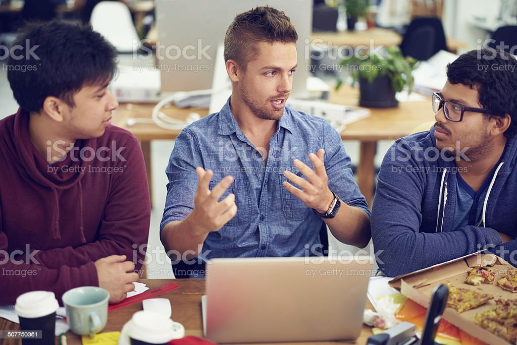 Giving the newbies some design advice stock photo
