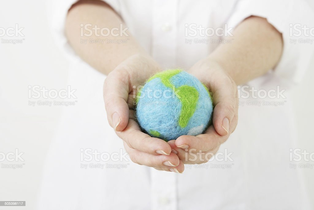 Giving the World royalty-free stock photo