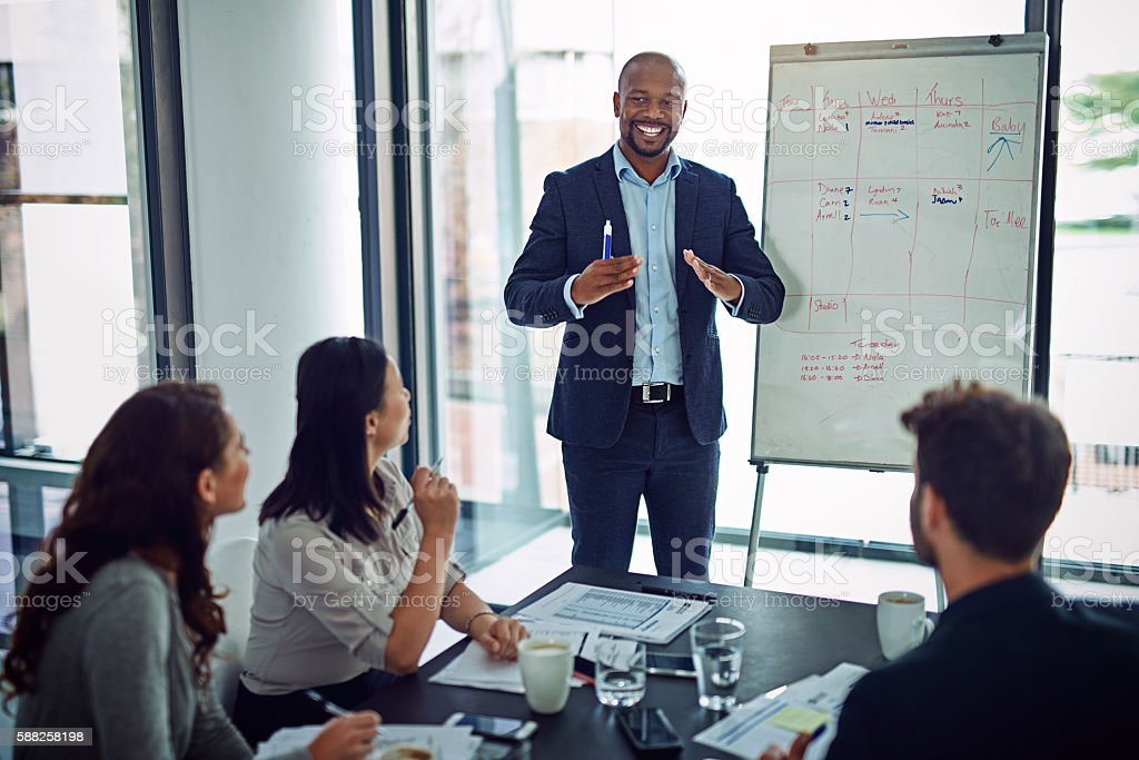 Giving them something that'll stick in their minds stock photo