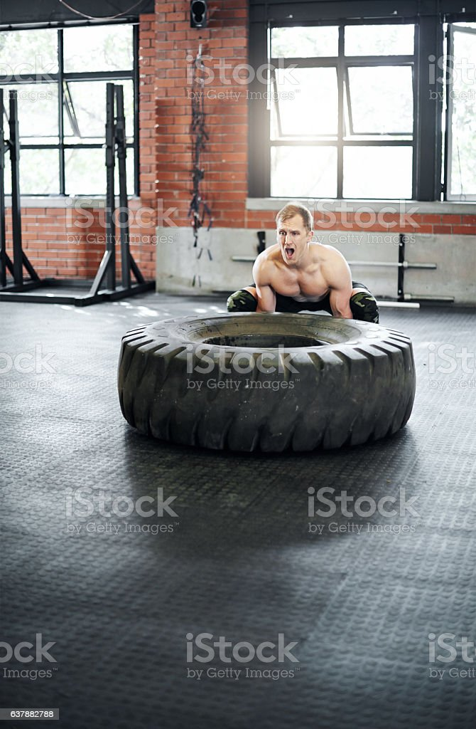 Giving up has no place in my dictionary stock photo