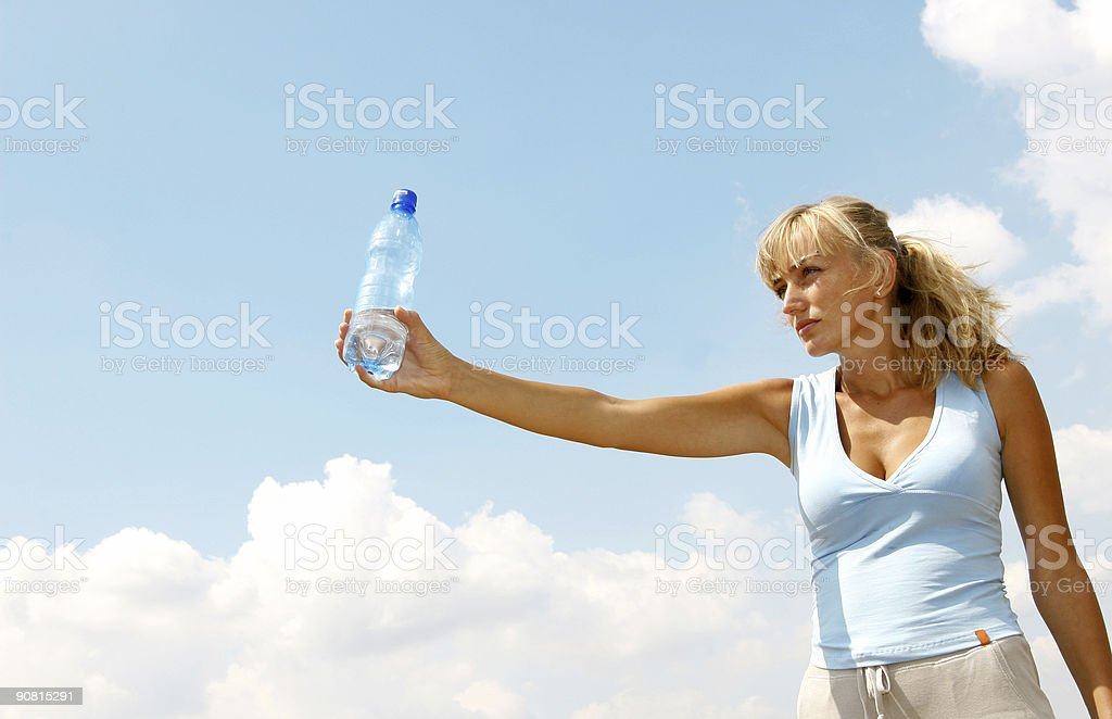 Giving water royalty-free stock photo