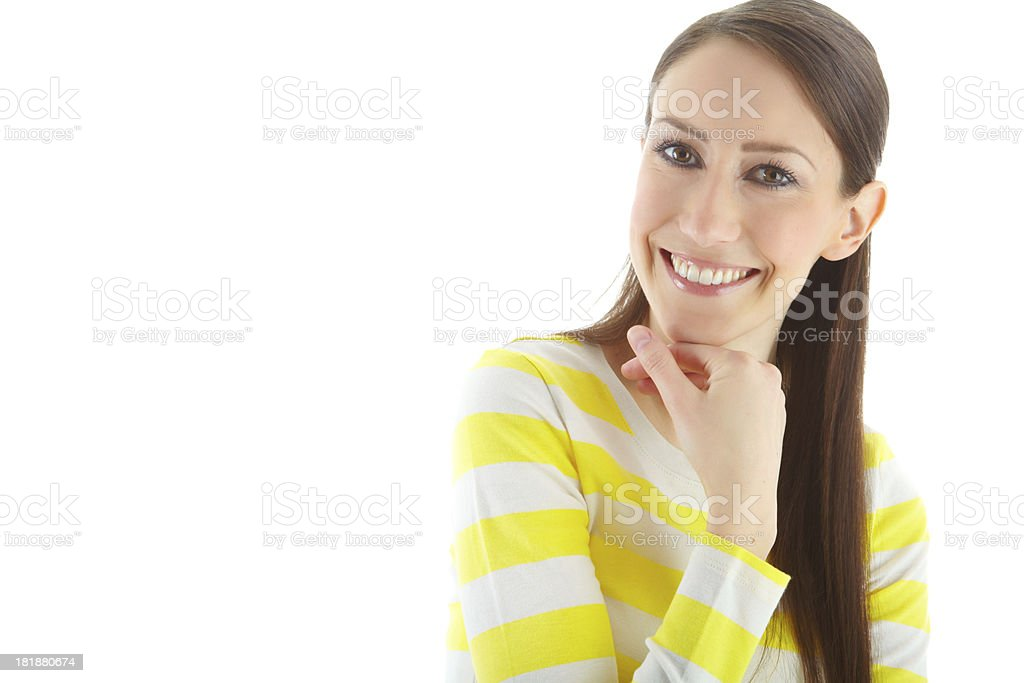 Giving you a bright smile royalty-free stock photo