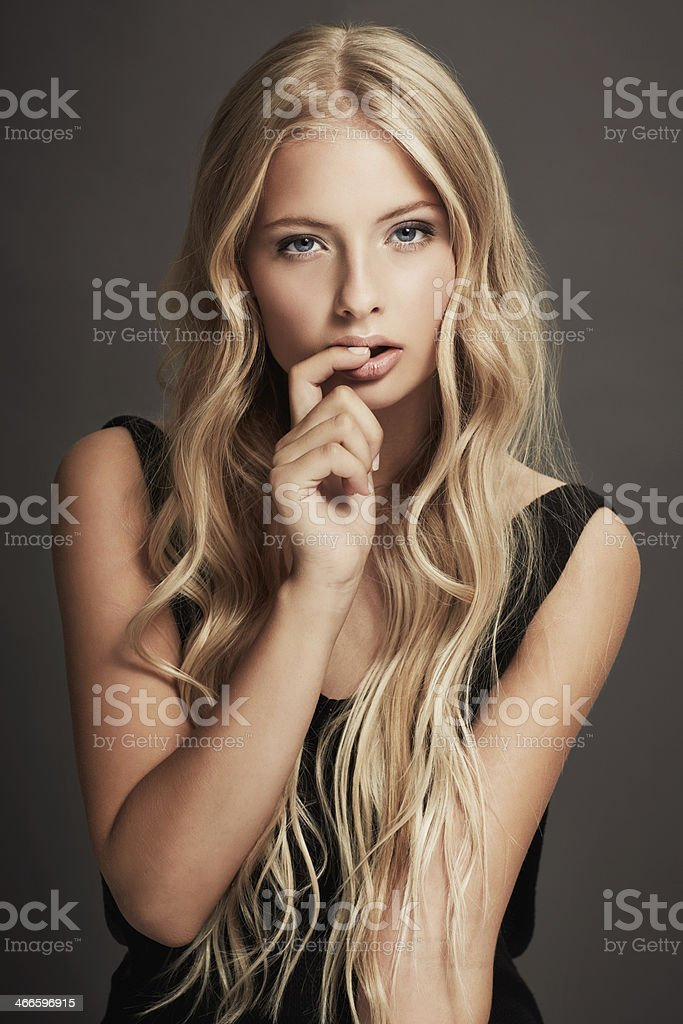 Giving you an alluring stare stock photo