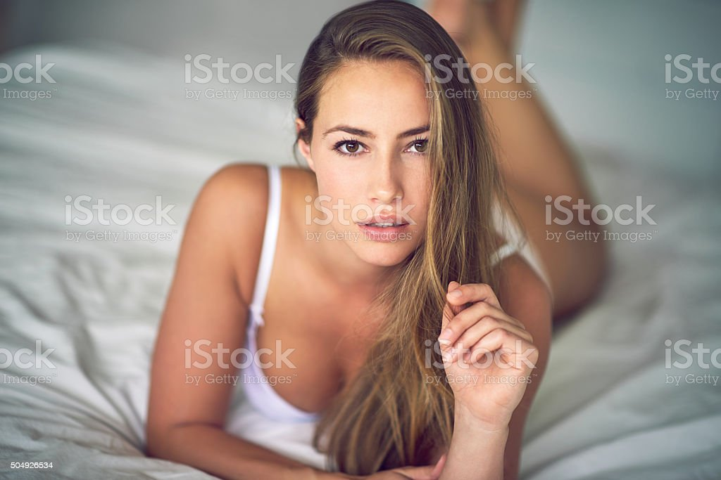 Giving you an inviting look stock photo