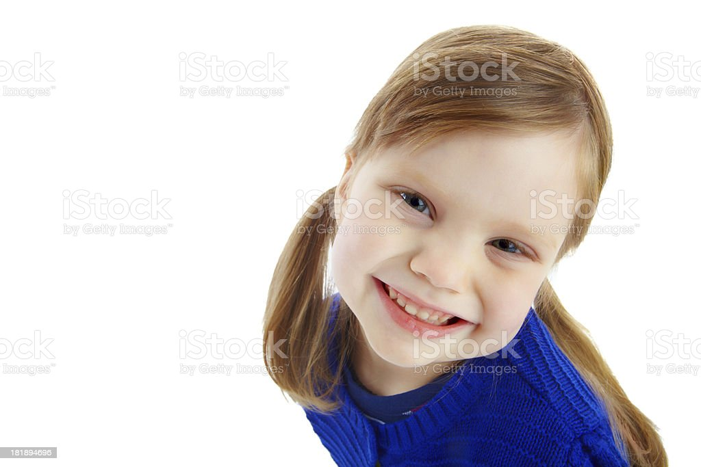 Giving you her brightest smile royalty-free stock photo