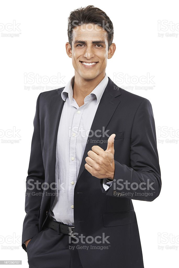 Giving you his approval royalty-free stock photo