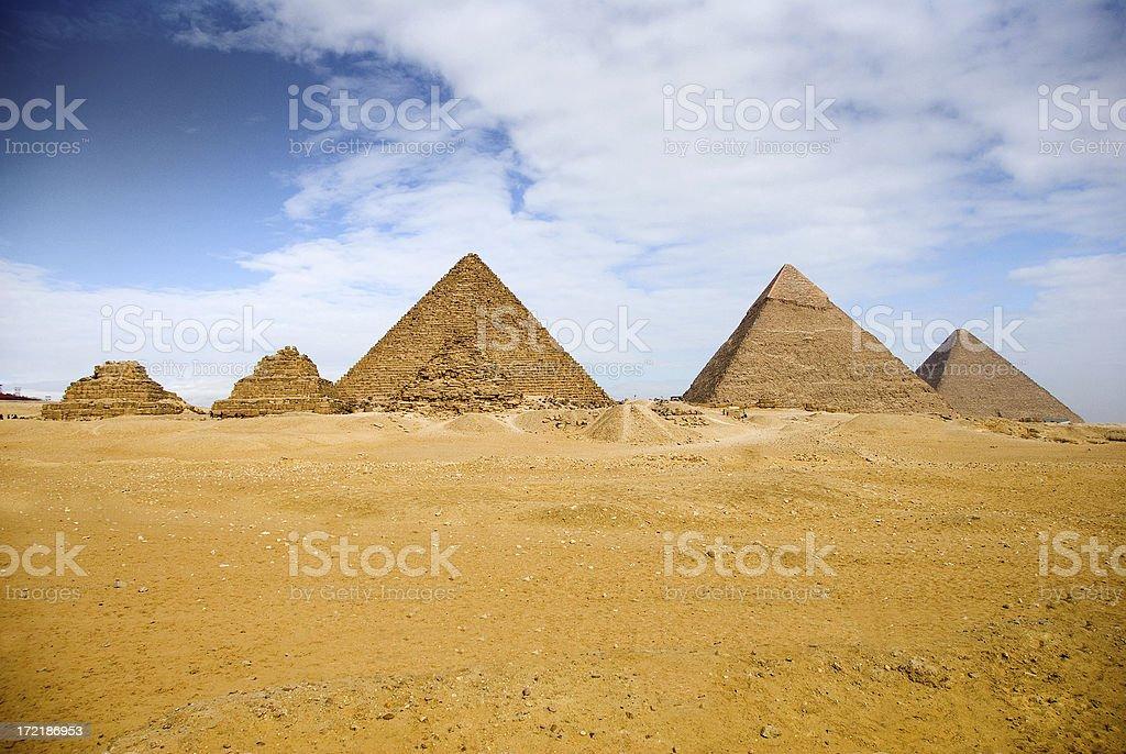 Giza 6 Pyramids royalty-free stock photo