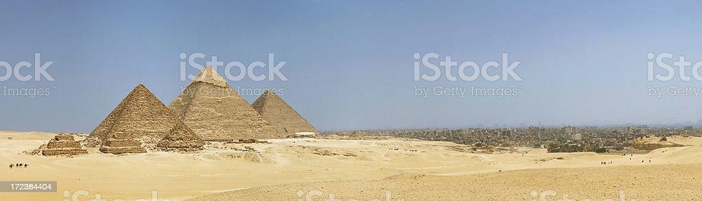 Giza and Cairo stock photo