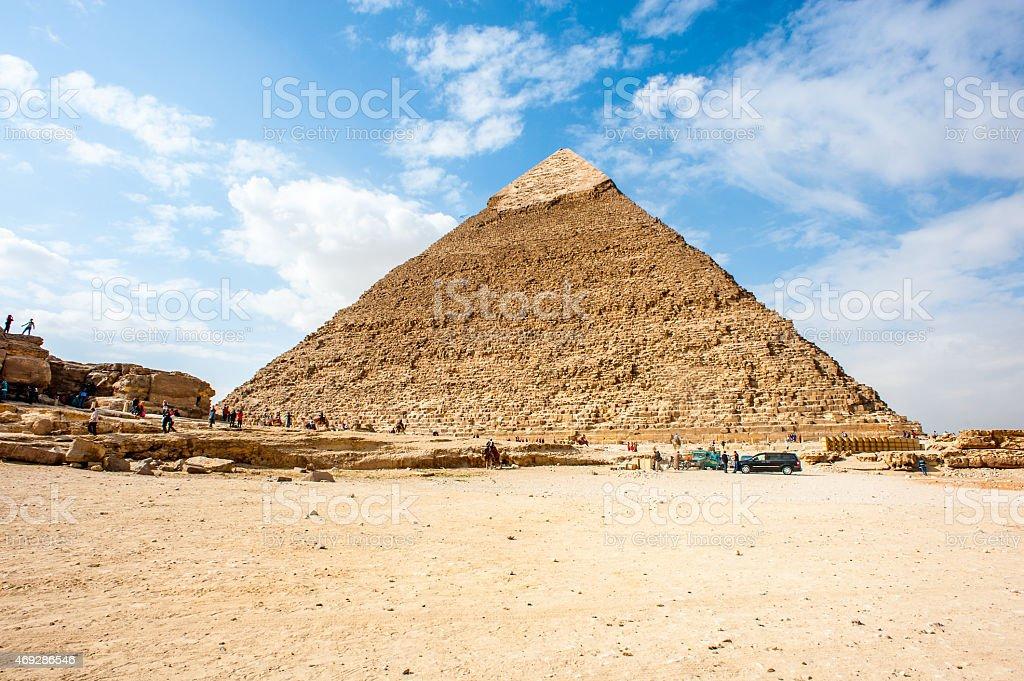 Giza Necropolis, Giza Plateau, Egypt. UNESCO World Heritage stock photo