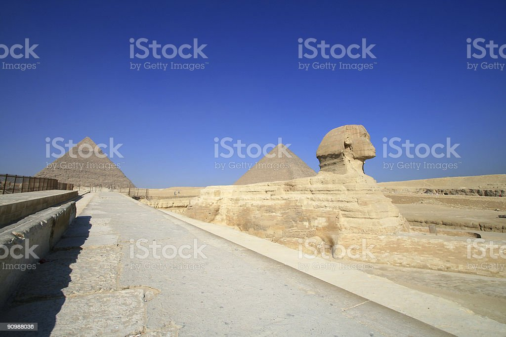Giza plateau royalty-free stock photo
