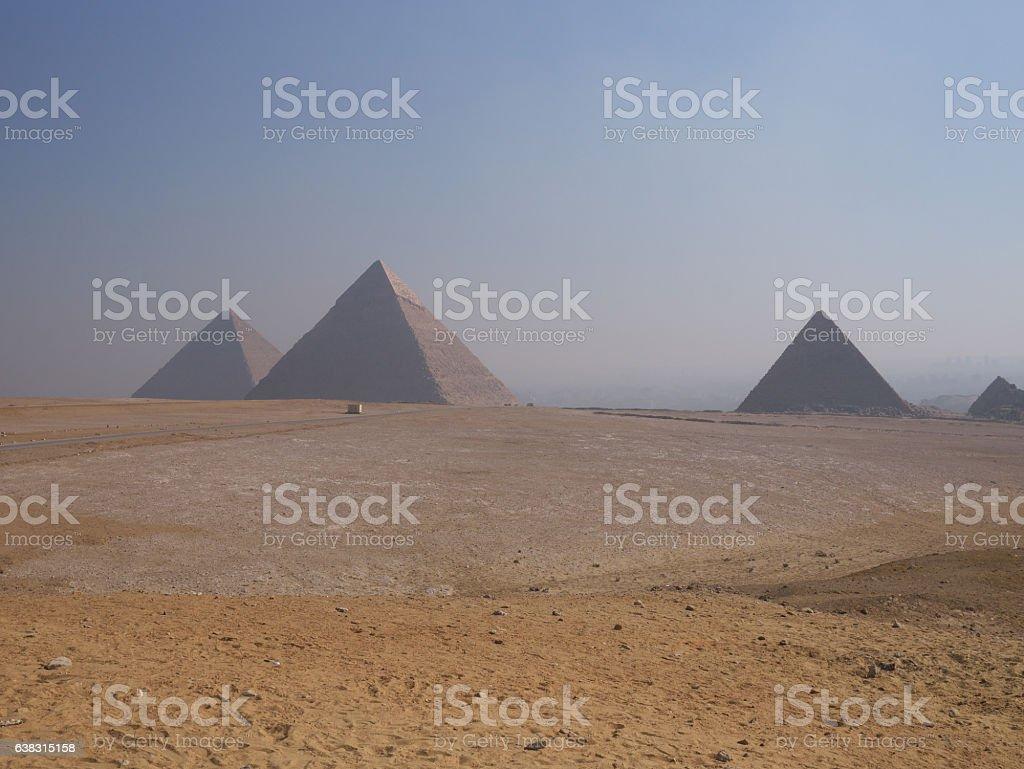 Giza pyramid complex stock photo