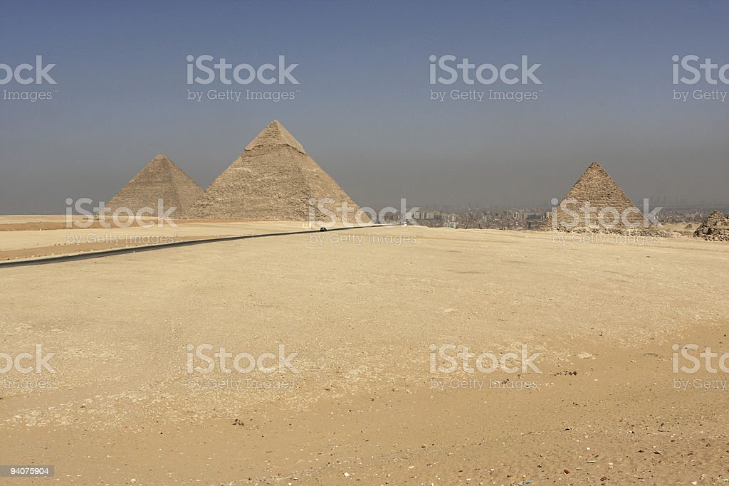 Giza Pyramid Complex royalty-free stock photo
