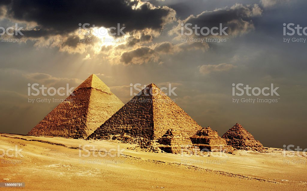 giza pyramids, cairo, egypt royalty-free stock photo