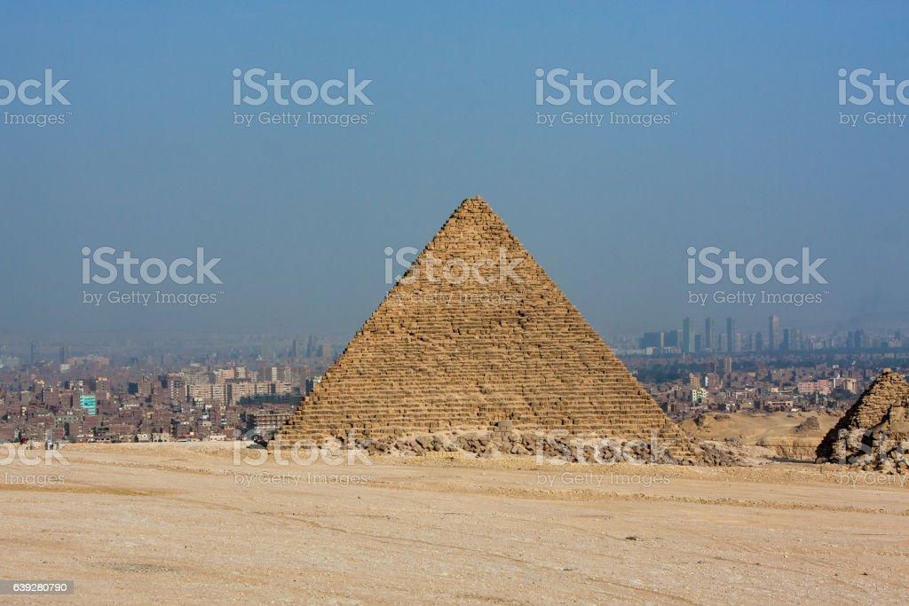 Giza Pyramids - Cairo - Egypt stock photo