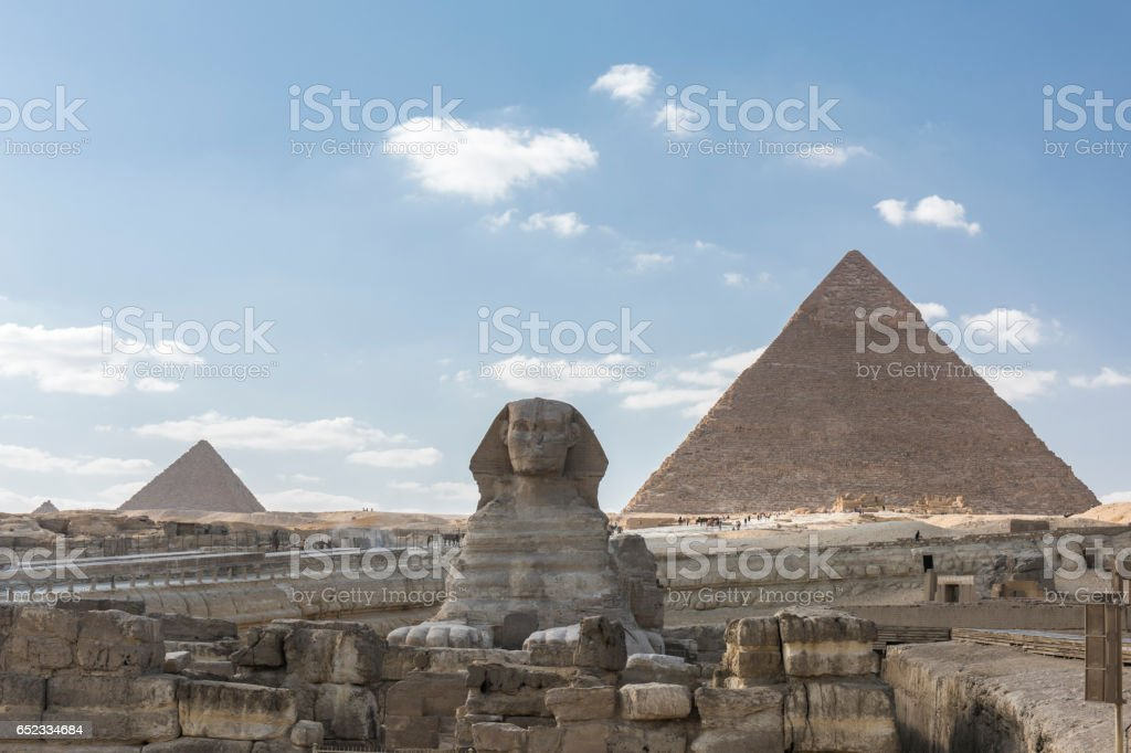 Giza Pyramids complex, Giza, Egypt. stock photo