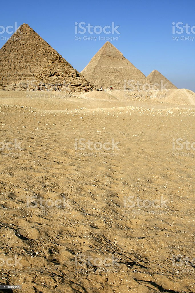 Giza pyramids in Cairo, Egypt royalty-free stock photo