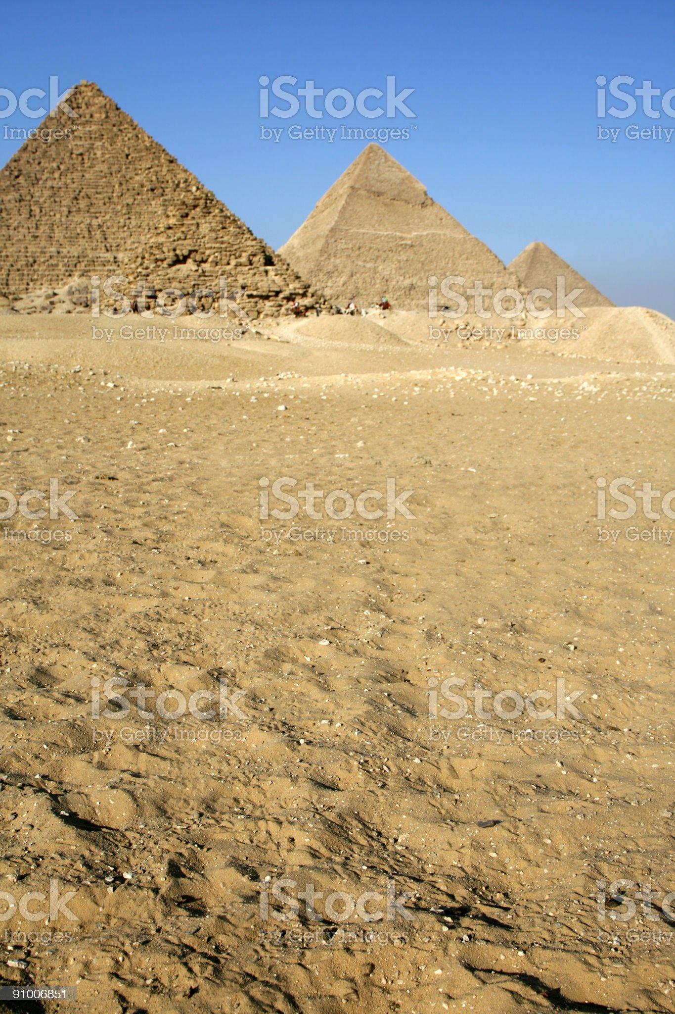 Giza pyramids in Cairo, Egypt royalty-free stock photo