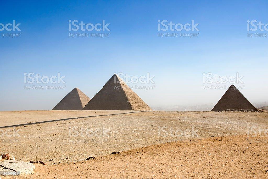 Giza Pyramids panorama stock photo