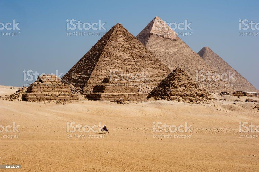 Giza pyramids stock photo