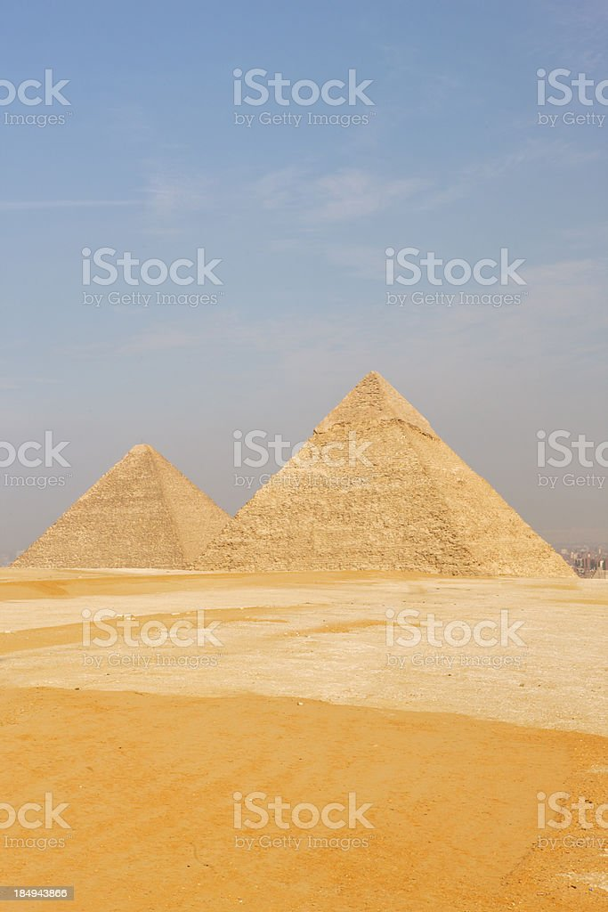 Gizeh pyramids royalty-free stock photo