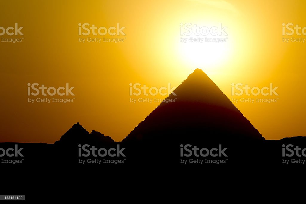 Gizeh sunset royalty-free stock photo