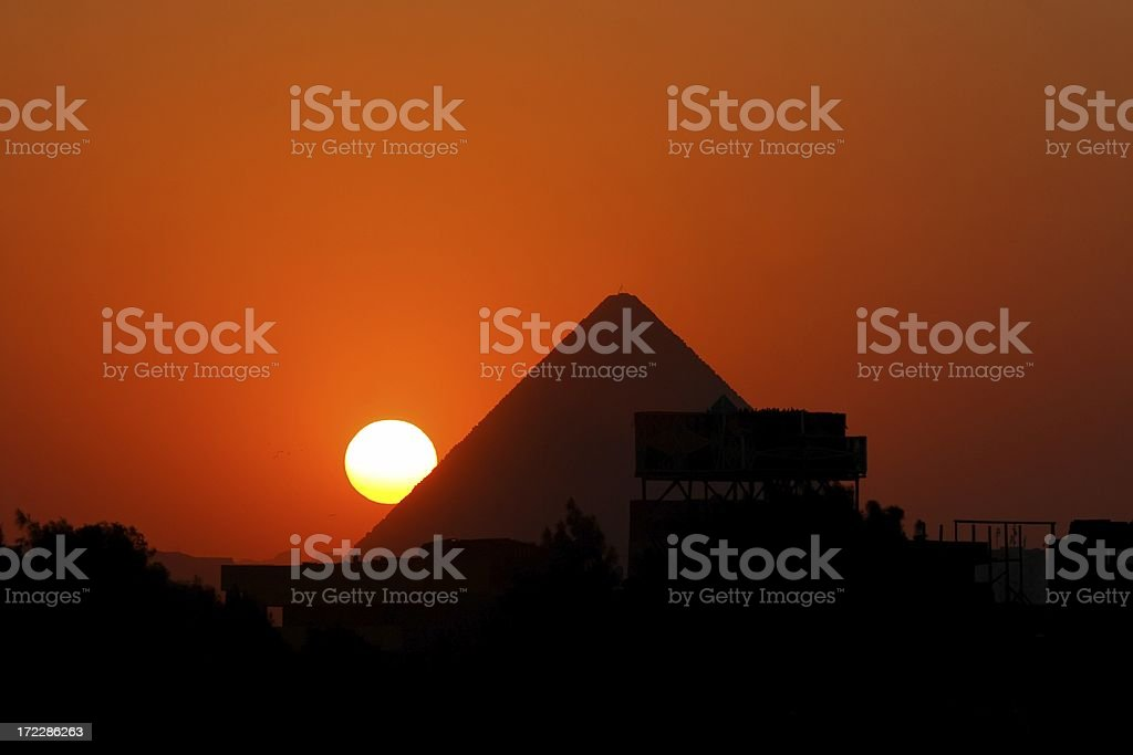Giza sunset royalty-free stock photo