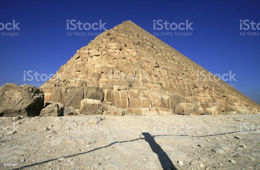 Giza's Great Pyramid royalty-free stock photo