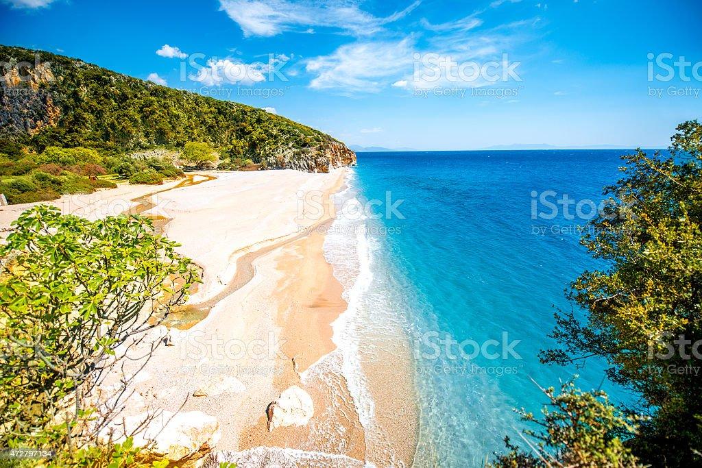 Gjipe beach stock photo