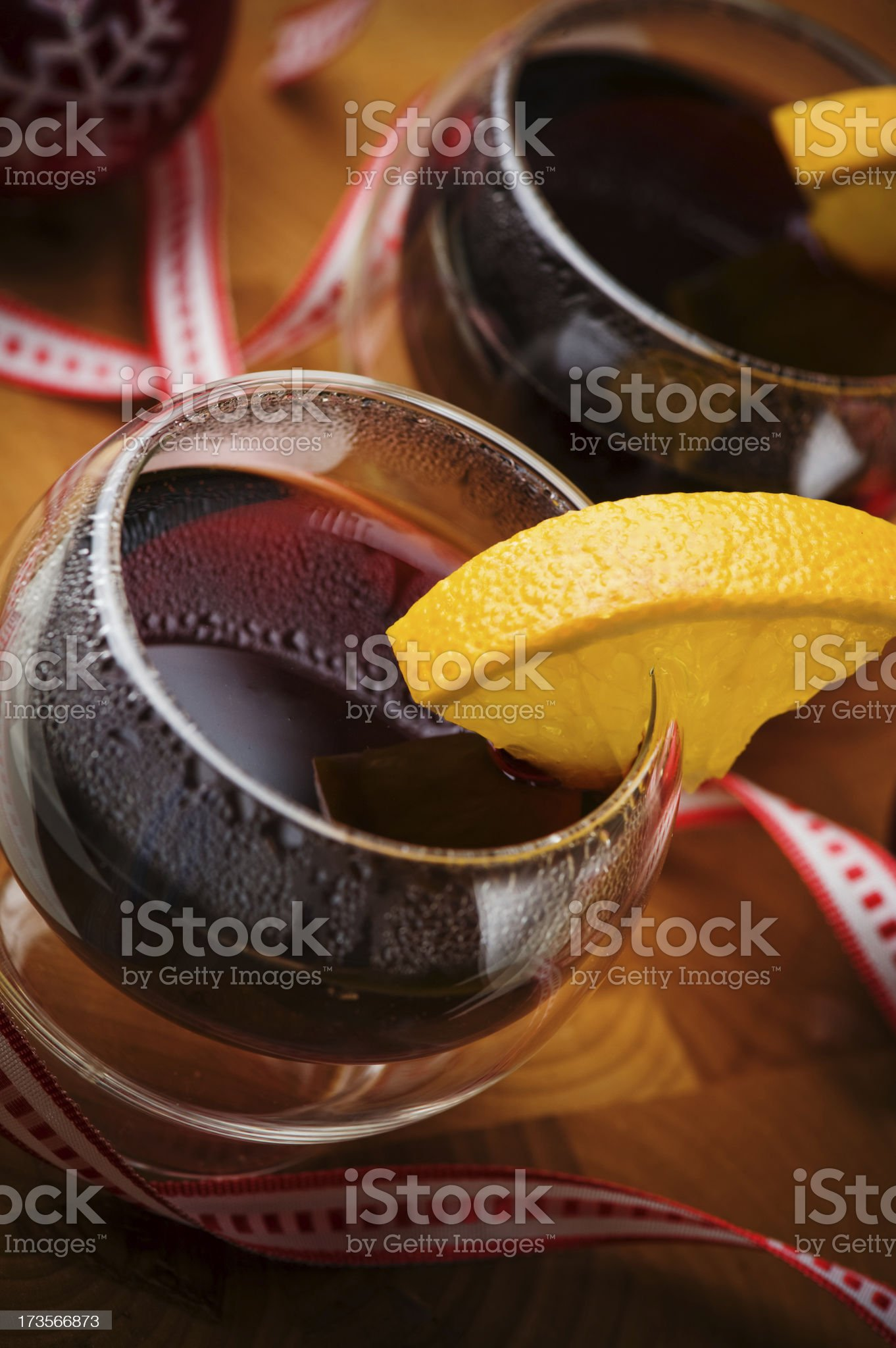 Glögg - mulled wine royalty-free stock photo