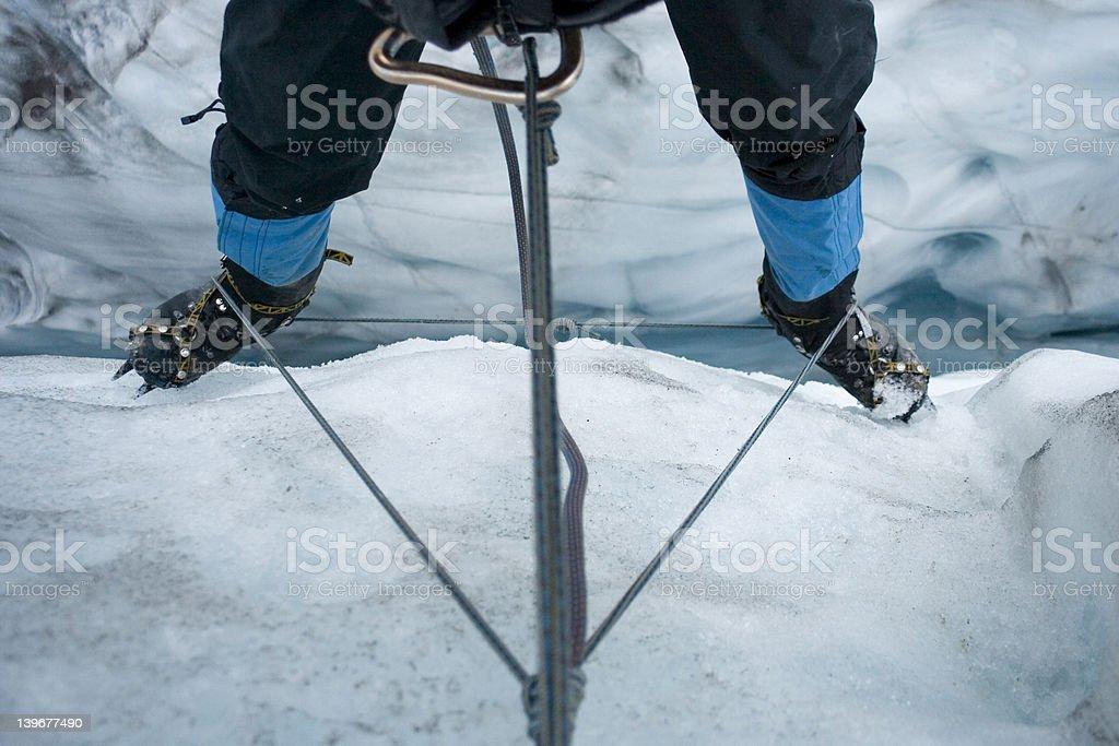 Glacial Crevasses royalty-free stock photo