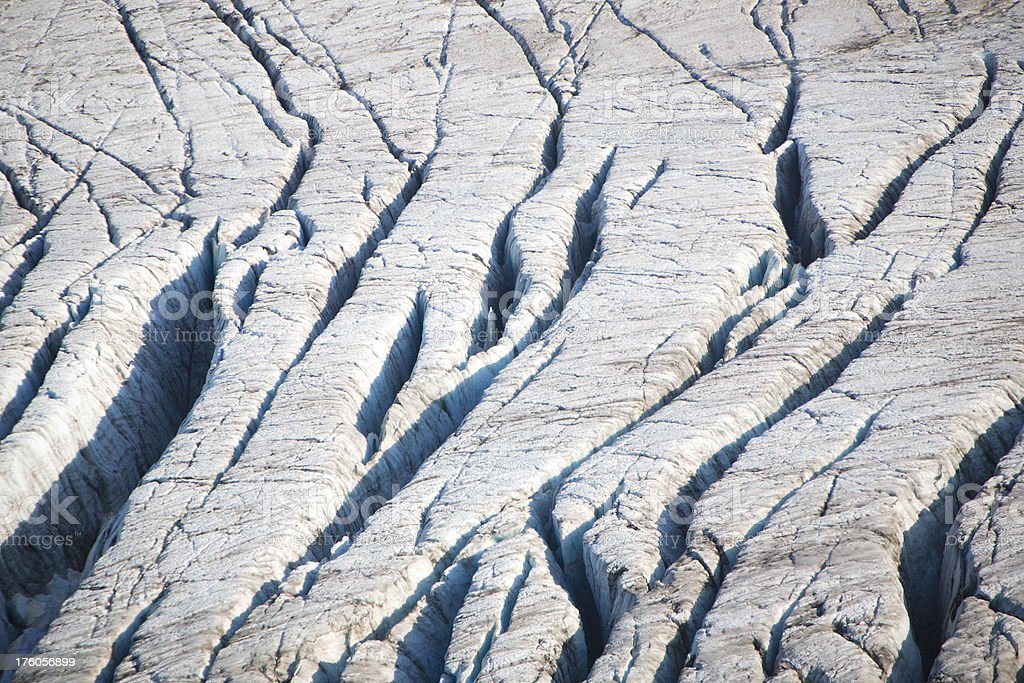 glacial crevasses royalty-free stock photo