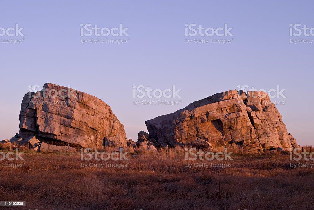 Glacial Erratic stock photo