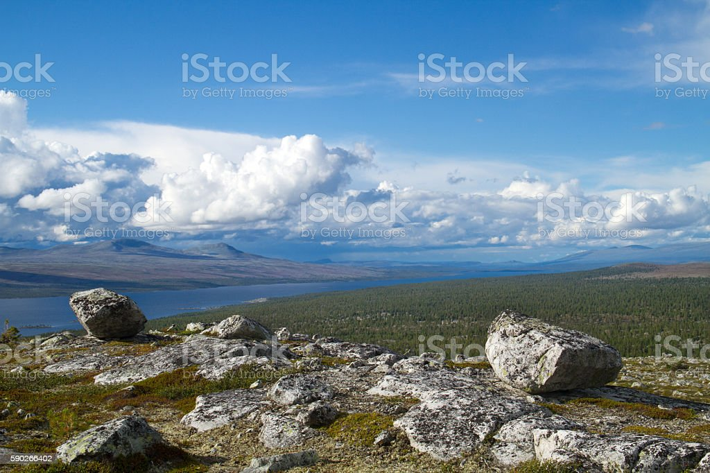 Glacial erratics stock photo